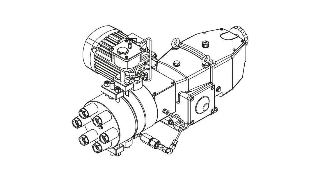 Гидравлический мембранный насос-дозатор высокого давления с металлической мембраной Orlita® MHHP